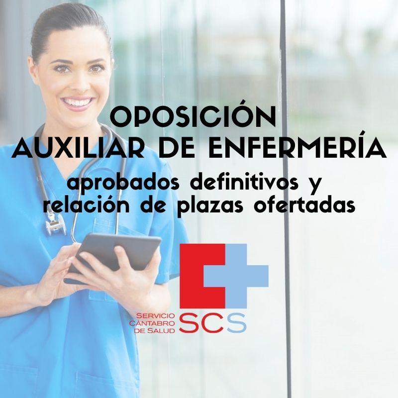 oposicion-Auxiliar-de-Enfermeria-Cantabria-SCS-1 Aprobados definitivos oposicion Auxiliar de Enfermeria Cantabria SCS y relacion de plazas ofertadas