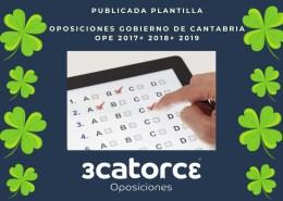 plantilla-respuestas-primer-examen-oposiciones-subalterno-Cantabria Oferta Empleo Publico 2019 Estado