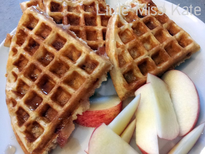 Brown sugar bacon waffles