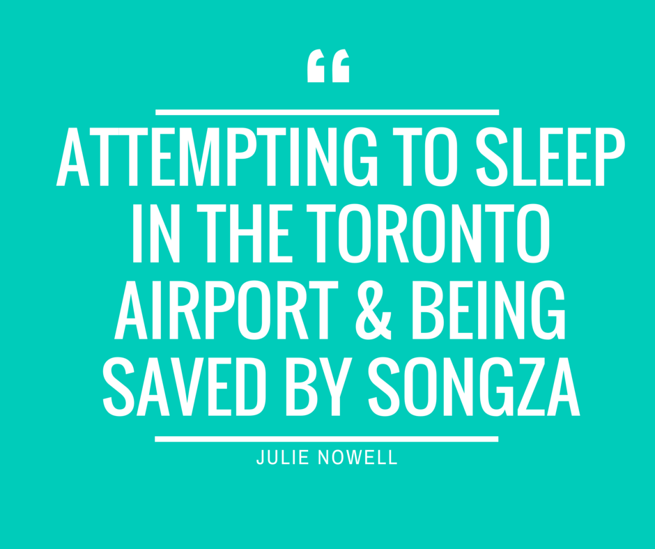 sleeping in toronto airport