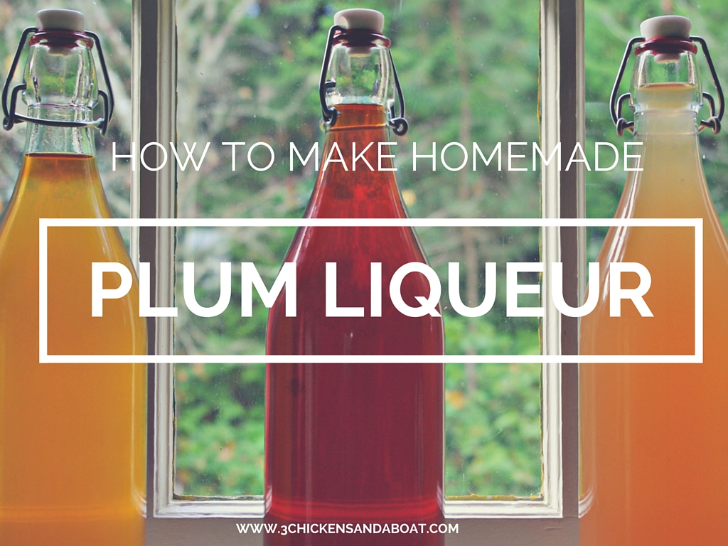 How to Make Homemade Plum Liqueur