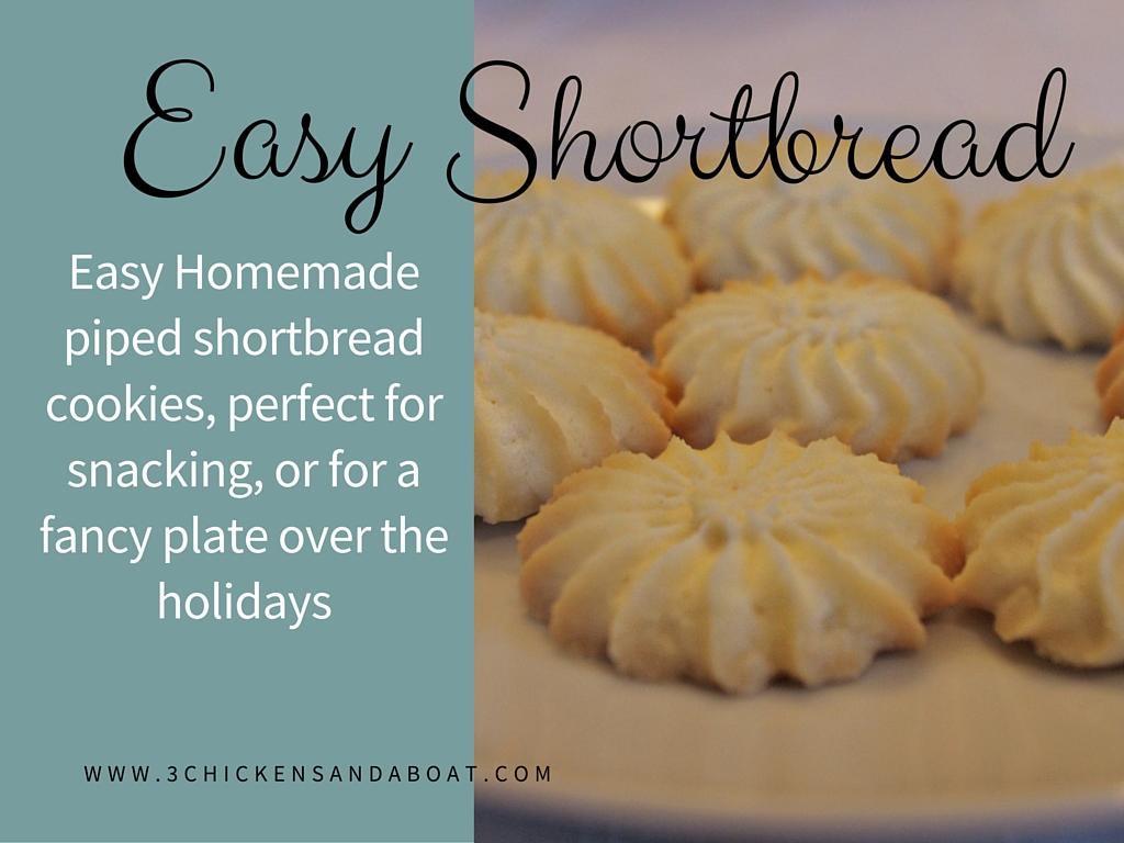 Shortbread Cookies; the Easy Way