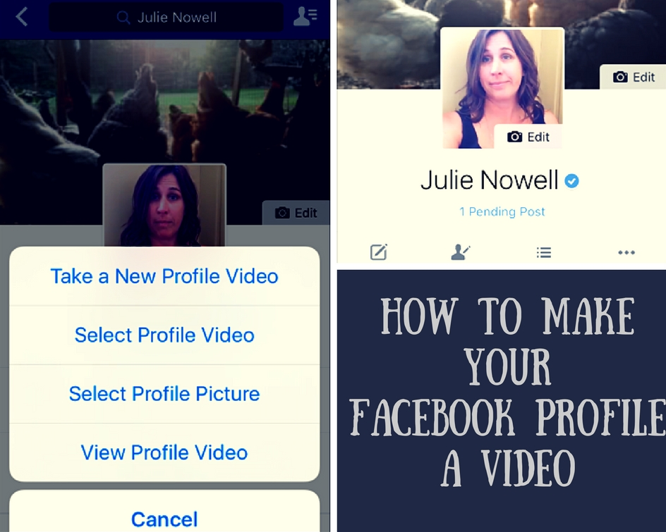 How To Make Your Facebook Profile Video