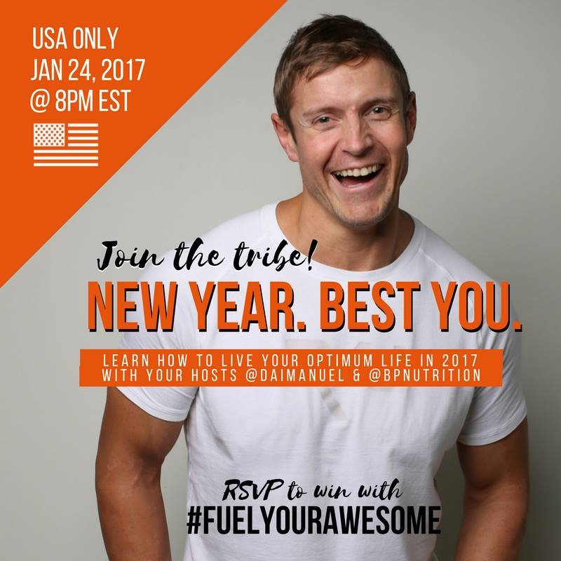 #FuelYourAwesome with @BPNutrition Tuesday Jan 24 8pm EST #TwitterParty