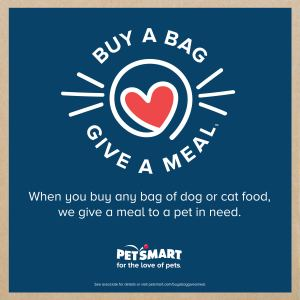 buy a bag, give a meal, petsmart