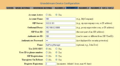 Настройка Grandstream для 3CX SIP Proxy Tunnel