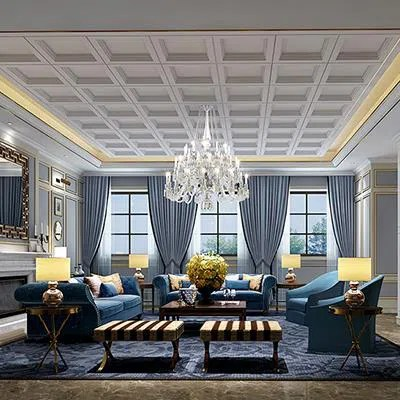 American Style Living Room Rendering Design3d Living Room