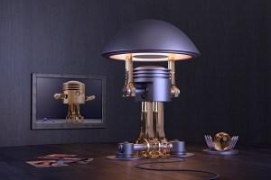 Designer Lampe, Lampe Design Dieselpunk   3D Ring.de
