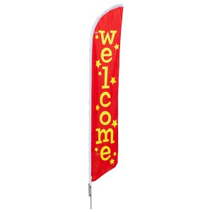 Aluma Pole Flag | Welcome Flag