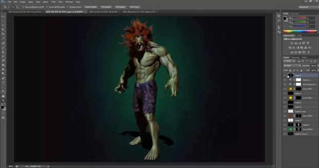 Render pass con Zbrush e Photoshop 3D Character