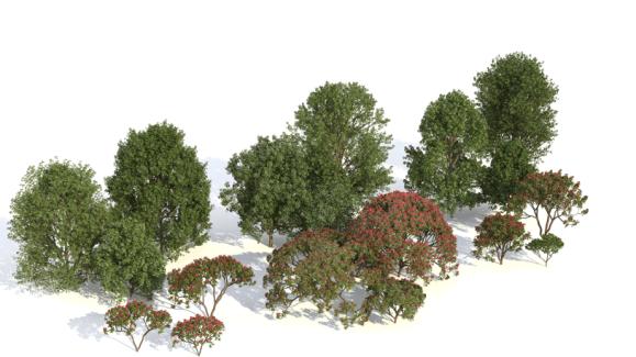 Plants Kit Freebie Download_kit_freebie_trees_in_a_row_vray