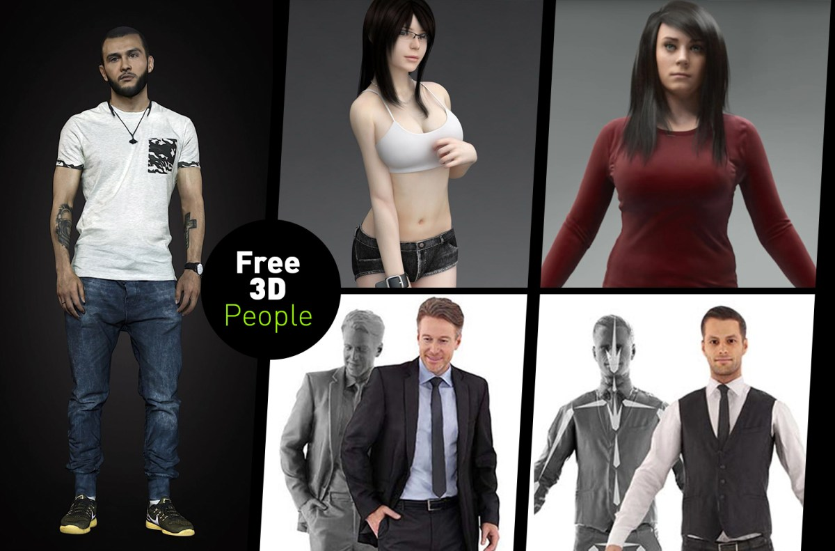 3D Scan Man Woman Free 3D Model