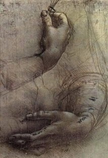 the hand sketch