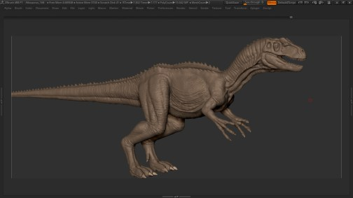 Allosaurus-Dinosaur-Maya-Rig