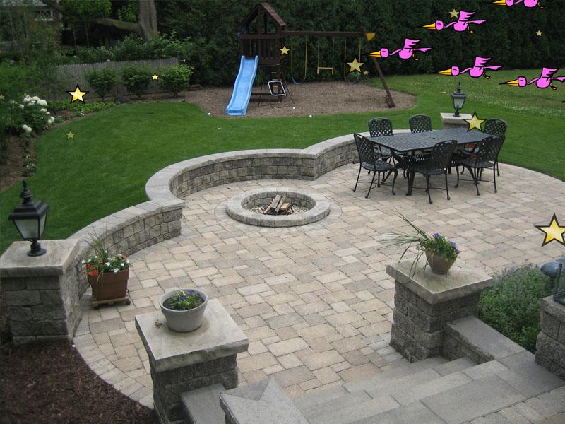 Fire Pits - Brick Patio & Pavers   3D Brick Paving3D Brick ... on Paver Patio With Fire Pit Ideas id=22743