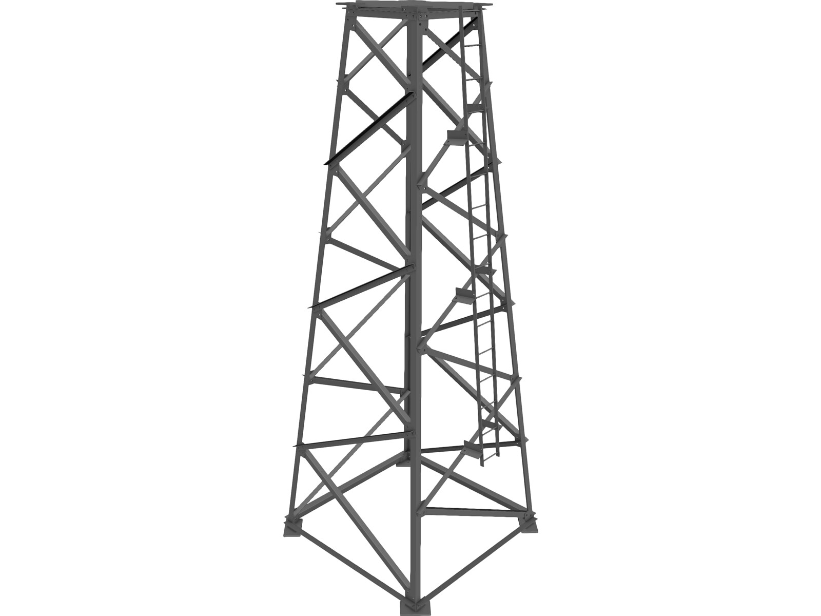 Tower Structure 3d Cad Model