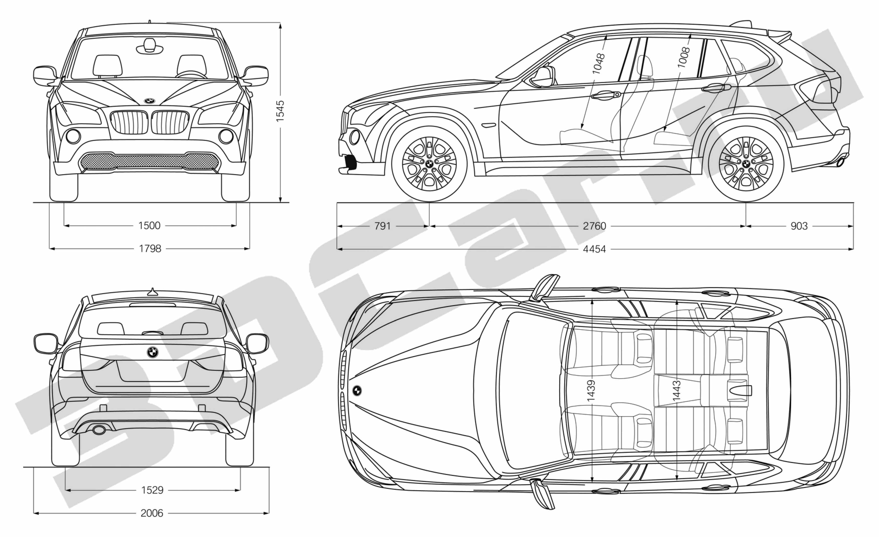 BMW X1: Bmw X1 Blueprint