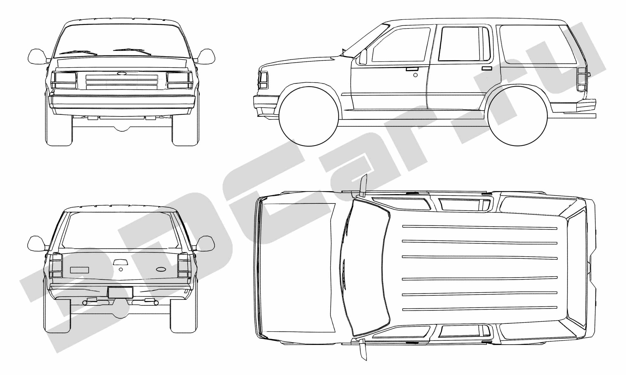 Ford Explorer Blueprint