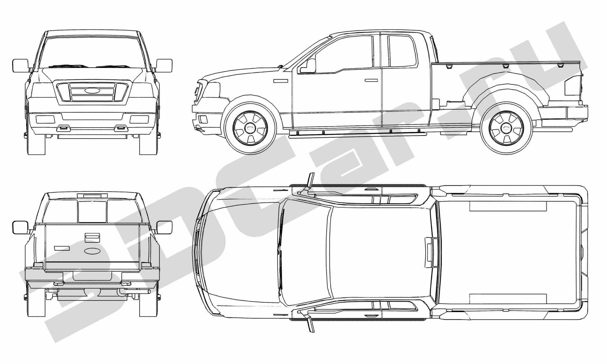 Ford F 150 3dcar