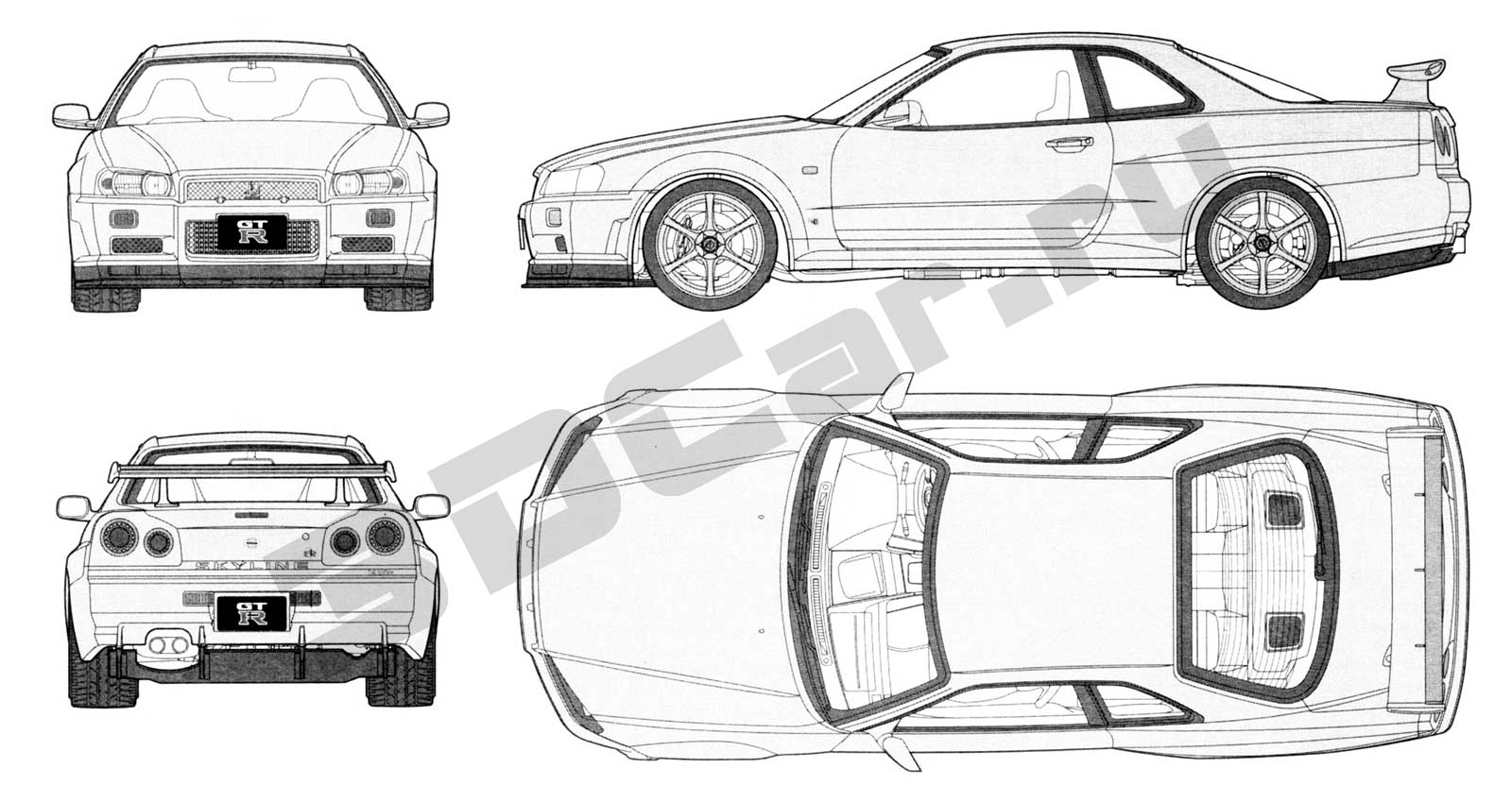 Nissan Skyline R35 Blueprint