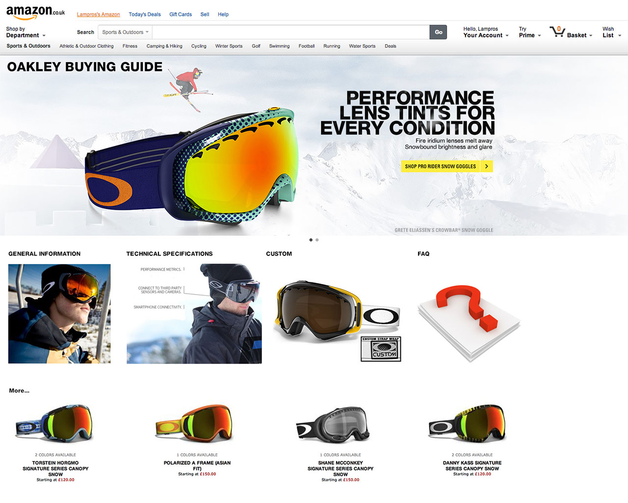 Amazon Oakley Brandstore