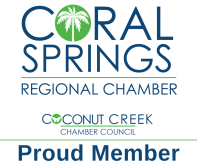 Proud Member of the Coral Springs Regional Chamber of Commerce
