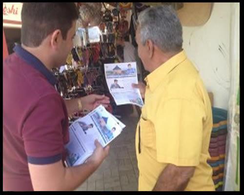 Em conversa com os lojistas, Cameli recebeu agradecimentos sobre seu trabalho, mas ouviu dos comerciantes reclamações sobre a alta carga tributária