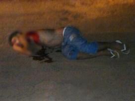 Rudson foi atingido a tiros, indo a óbito antes mesmo de receber socorro/Foto: Sorrisoshownotícias