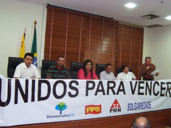 """Partidos lançam aliança""""Unir para vencer"""" em defesa de candidatura única da oposição ao governo do Acre/Foto: Agência ContilNet"""