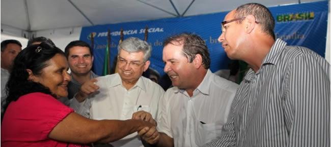 Comunidade de Brasileia celebra nova sede do Instituto Nacional da Seguridade Social (INSS) da cidade (Foto: Sérgio Vale/Secom)