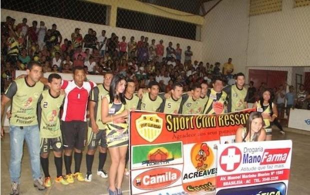 Time de futsal do Ressaca, clube de Brasiléia, interior do Acre (Foto: Divulgação/SC Ressaca)