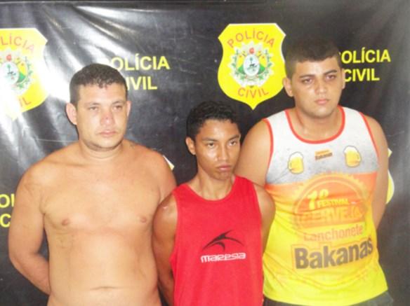Nilsélio Furtado dos Santos, 32 anos, Jerfferson Silva de Souza, 21 anos, e Maharishi Bandeira da Silva, 23 anos