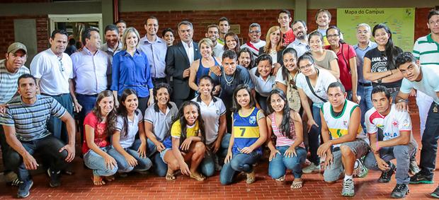 O presidente da Federação de Desportos Universitários Acreanos (FDUA), Sandro Melo, seguiu para a capital goiana
