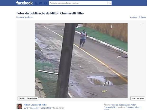 Professor universitário postou foto de suposto ladrão de sua residência (Foto: Reprodução/Facebook)