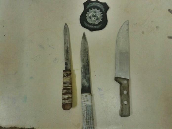 Armas utilizadas na tentativa de homicídio