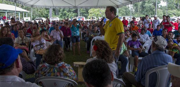 Tião Viana anunciou R$ 28,5 milhões em investimentos para dar uma vida digna aos povos da floresta (Foto: Gleilson Miranda/Secom)