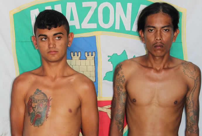 De acordo com relatos, os dois entraram encapuzados e de posse de escopeta e faca e anunciaram o assalto/Foto: Polícia Militar do AM