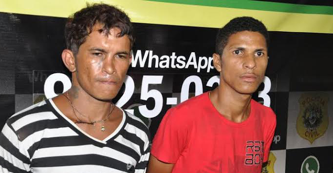 Dupla foi presa e reconhecida pelas vítimas/Foto: Selmo Melo