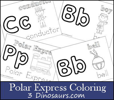 polar express coloring pages free # 7