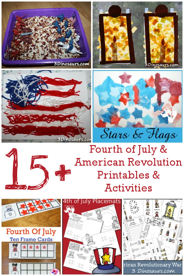 15+ 4th of July and American Revolution Printables ...