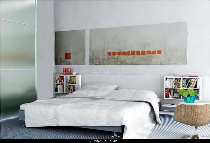 Simple Style Bedroom Design: Pure White 3D Model Download ... on Model Bedroom Design  id=28105