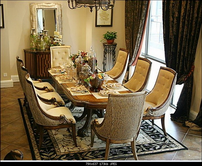 European Style Dining Table And Chair Combination Of A Set