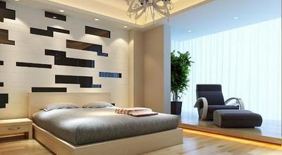 Modern Bedroom 3D Model Han Guang Area Network Texture