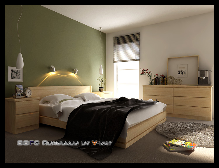 Simple bedroom model 3D Model Download,Free 3D Models Download on Model Bedroom Design  id=13249