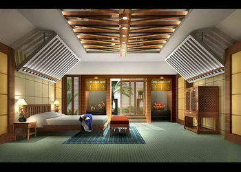 Modern Unique Ceiling Bedroom 3D Model DownloadFree 3D