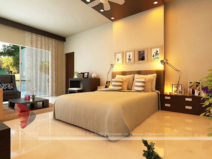3D Interiors | 3D Interior Rendering Services | 3D Power on Model Bedroom Interior Design  id=48068