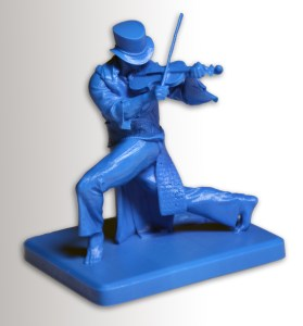 Wax Model Violin Player winning design by Oliver Borgardts of Germany