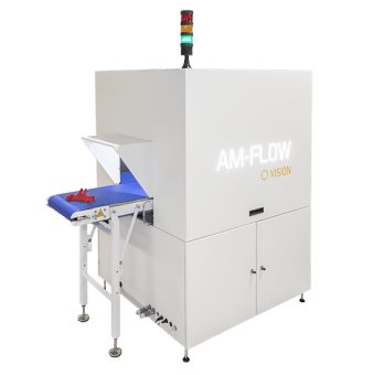 The company's AM Vision machine used to identify 3D-printed parts