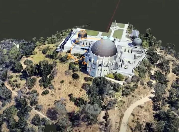 3D scene in Blender of data from Google Maps [Source: YouTube]