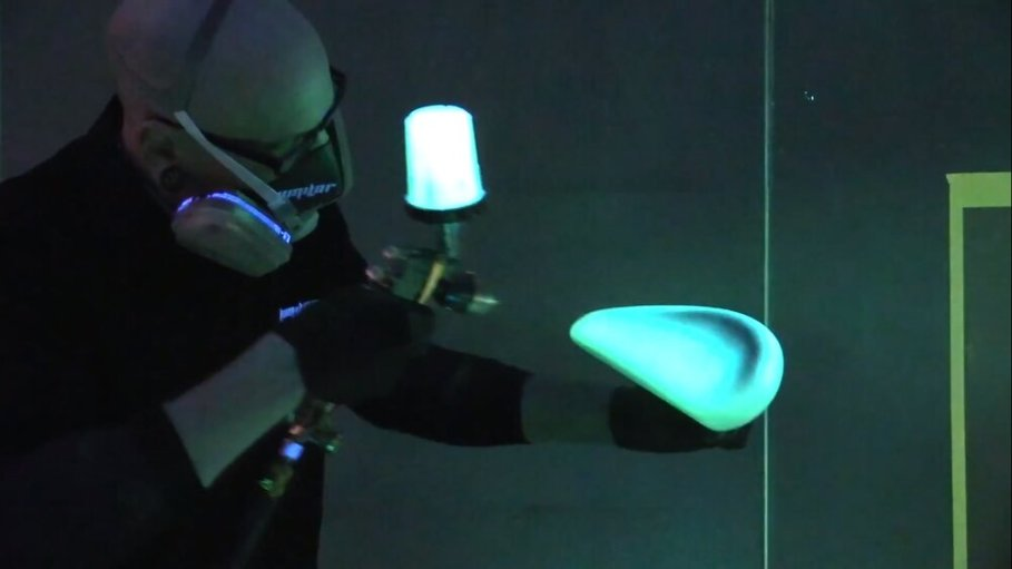 Electroluminescent Paint! [Source: SolidSmack]